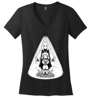 Stay Determined-Gaming Women's Perfect Weight V-Necks-Art Of Sarah Richford|Threadiverse