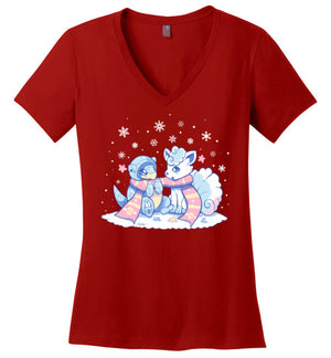 Winter Forms-gaming women's perfect weight shirts-Art Of Sarah Richford|Threadiverse