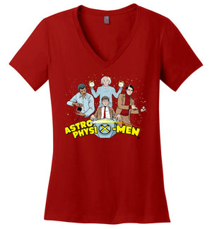 AstroPhysiX-Men-Pop Culture Women's Perfect Weight V-Necks-Kgullholmen|Threadiverse