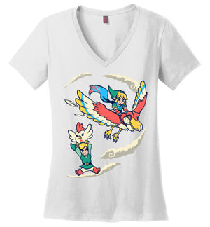 A Better Way To Fly-gaming women's perfect weight V-Necks-Art Of Sarah Richford|Threadiverse