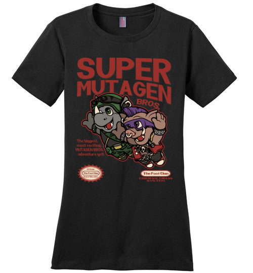 Super Mutagen Bros-Pop Culture Women's Perfect Weight Shirts-Angzdu|Threadiverse