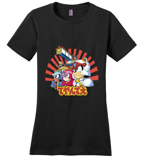 Samurai Pizza Cats-Animation Women's Perfect Weight Shirts-Skullpy|Threadiverse