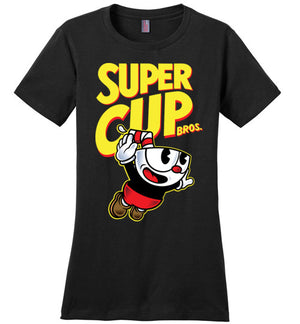 Cup Head Bros-Gaming Women's Perfect Weight Shirts-Demonigote|Threadiverse