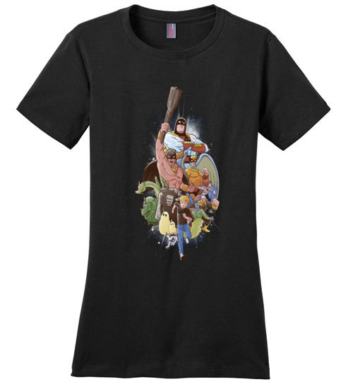 Childhood Heroes-Animation Women's Perfect Weight Shirts-Skullpy|Threadiverse