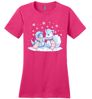 Winter Forms-Gaming Women's Perfect Weight V-Necks-Art Of Sarah Richford|Threadiverse