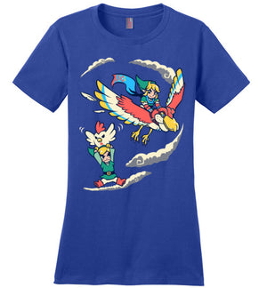 A Better Way To Fly-gaming women's perfect weight shirts-Art Of Sarah Richford|Threadiverse
