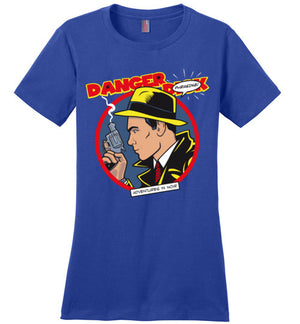 Danger D_ck-Animation Women's Perfect Weight Shirts-Kgullholmen|Threadiverse