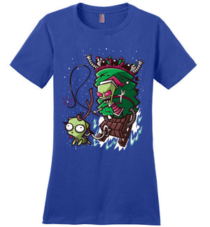 Zim Stole Christmas-Animation Women's Perfect Weight Shirts-CoD (Create Or Destroy) Designs|Threadiverse