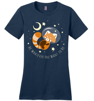 Red Panda Dreams-Indie Women's Perfect Weight Shirts-Chocolate Raisins Art|Threadiverse