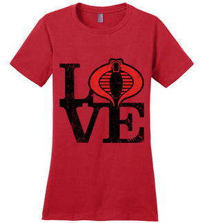 <3 Cobra-Pop Culture Women's Perfect Weight Shirts-Skullpy|Threadiverse