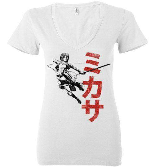 """Protect""-Anime Women's V-Necks-Ddjvigo
