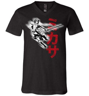 """Protect"" In Black-Anime V-Necks-Ddjvigo