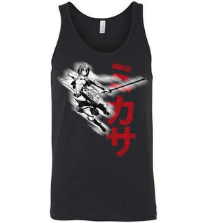 """Protect"" In Black-Anime Tank Tops-Ddjvigo