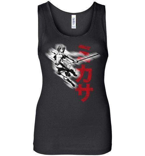 """Protect"" In Black-Anime Women's Tank Tops-Ddjvigo
