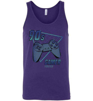 90s gamer (Play)-Gaming Tank Tops-Typhoonic Artwork|Threadiverse