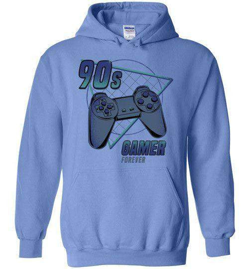 90s gamer (Play)-Gaming Zipper Hoodies-Typhoonic Artwork|Threadiverse