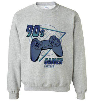 90s gamer (Play)-Gaming Sweatshirts-Typhoonic Artwork|Threadiverse