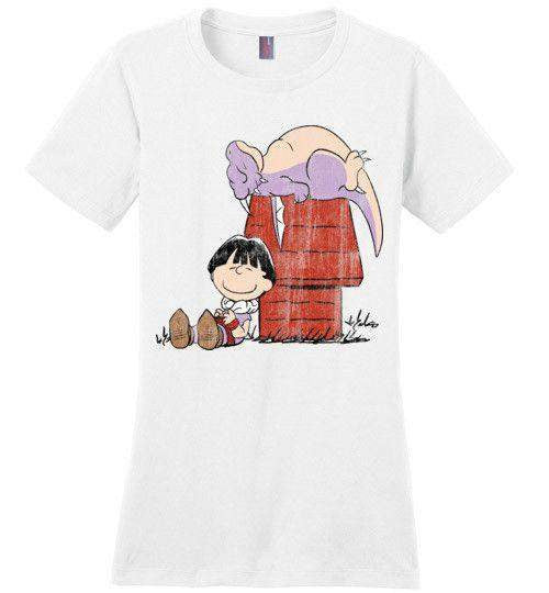 A Boy And His Dragon-Anime Women's Perfect Weight Shirts-Ddjvigo|Threadiverse