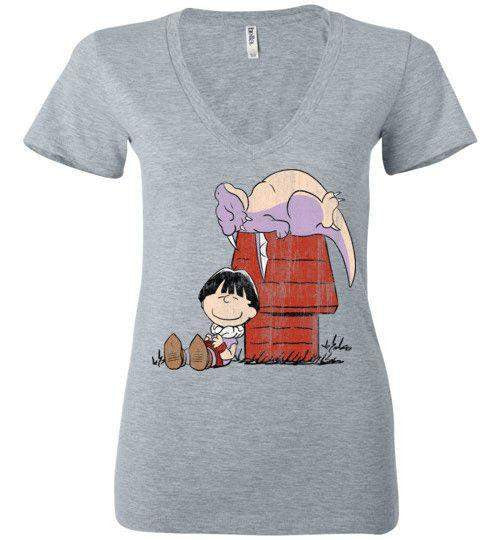 A Boy And His Dragon-Anime Women's V-Necks-Ddjvigo|Threadiverse