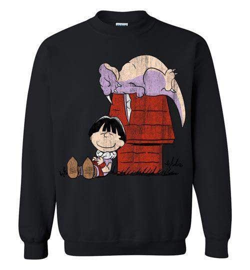 A Boy And His Dragon-Anime Sweatshirts-Ddjvigo|Threadiverse