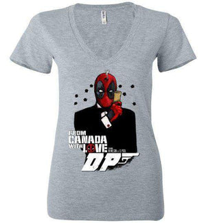Agent Deadpool-Comics Women's V-Necks-Demonigote|Threadiverse