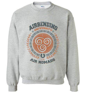 Airbending University-Animation Sweatshirts-Typhoonic Artwork|Threadiverse