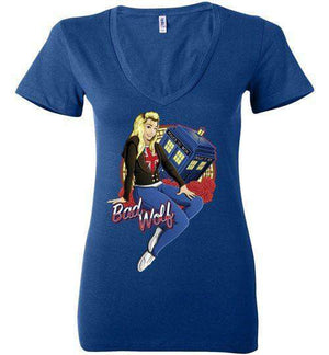 Bad Wolf-Pop Culture Women's V-Necks-TrulyEpic|Threadiverse