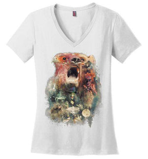 Banjo-Gaming Women's Perfect Weight V-Necks-Barrett Biggers|Threadiverse
