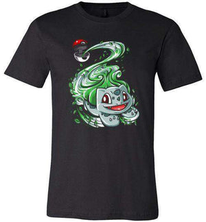 Bulbasaur Pokeball-Gaming Shirts-Punksthetic Designs|Threadiverse