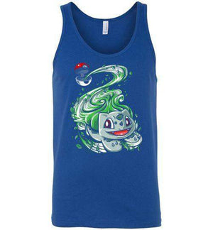 Bulbasaur Pokeball-Gaming Tank Tops-Punksthetic Designs|Threadiverse
