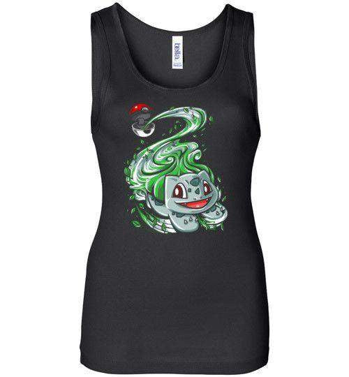 Bulbasaur Pokeball-Gaming Women's Tank Tops-Punksthetic Designs|Threadiverse