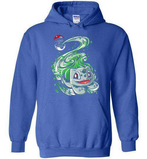 Bulbasaur Pokeball-Gaming Hoodies-Punksthetic Designs|Threadiverse