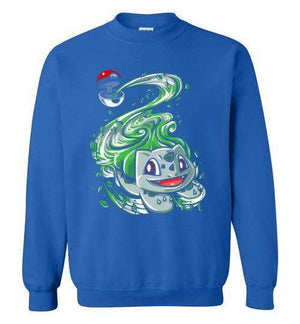 Bulbasaur Pokeball-Gaming Sweatshirts-Punksthetic Designs|Threadiverse