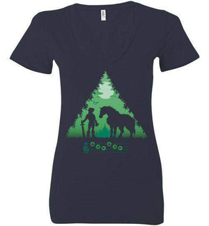 Calling Epona-Gaming Women's V-Necks-DDjvigo|Threadiverse
