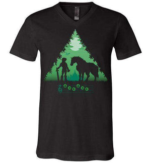 Calling Epona-Gaming V-Necks-DDjvigo|Threadiverse