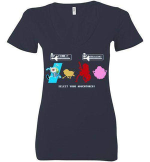 Choose Your Adventurer-Animation Women's V-Necks-Demonigote|Threadiverse