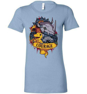 Courage Power - 01-Anime Women's Shirts-Typhoonic Artwork|Threadiverse