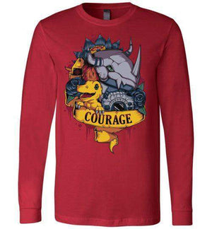 Courage Power - 01-Anime Long Sleeves-Typhoonic Artwork|Threadiverse