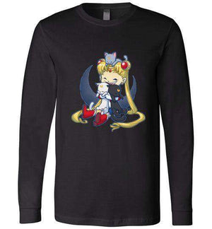 Crazy Moon Cat Lady-Anime Long Sleeves-Bear Nuts Comics|Threadiverse