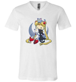 Crazy Moon Cat Lady-Anime Shirts-Bear Nuts Comics|Threadiverse