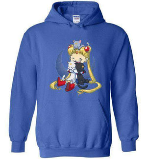 Crazy Moon Cat Lady-Anime Hoodies-Bear Nuts Comics|Threadiverse