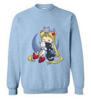 Crazy Moon Cat Lady-Anime Sweatshirts-Bear Nuts Comics|Threadiverse