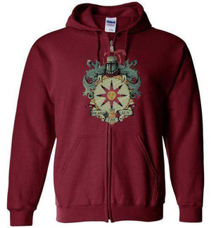 Crest Of Solaire-Gaming Zipper Hoodies-Typhoonic Artwork|Threadiverse