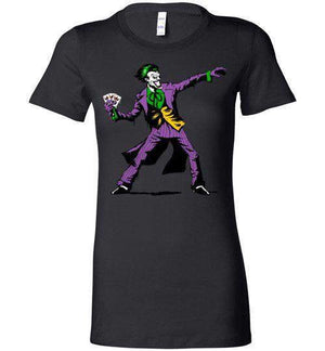 Crime Clown Banksy-Comics Women's Shirts-DEMONIGOTE|Threadiverse