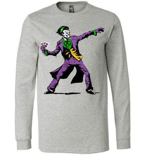 Crime Clown Banksy-Comics Long Sleeves-DEMONIGOTE|Threadiverse