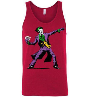 Crime Clown Banksy-Comics Tank Tops-DEMONIGOTE|Threadiverse