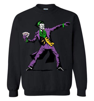 Crime Clown Banksy-Comics Hoodies-DEMONIGOTE|Threadiverse