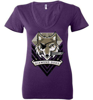 Diamond Dogs-Gaming Women's V-Necks-TrulyEpic|Threadiverse