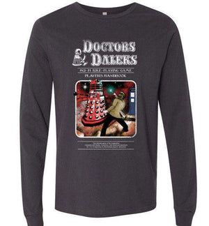 Doctors And Daleks-Pop Culture Long Sleeves-Creative Outpouring|Threadiverse