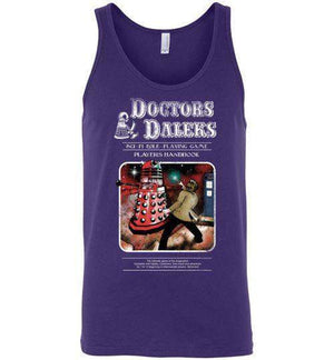 Doctors And Daleks-Pop Culture Tank Tops-Creative Outpouring|Threadiverse